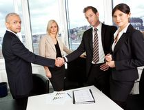 Business handshake over the deal Royalty Free Stock Image