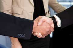 Business handshake over the deal. Close-up shot Stock Image