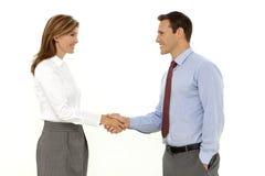 Business Handshake over white background