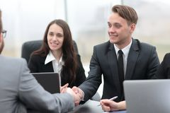 Business handshake business partners Stock Images