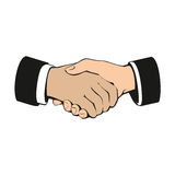 Business handshake, partnership and teamwork Stock Photography
