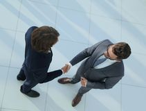 Business handshake and business people concepts. Business handshake of two men demonstrating their agreement Stock Photography