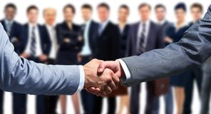 Business handshake and business people Stock Image