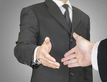 Business handshake, point of view composition Stock Photos