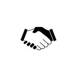 Business handshake solid icon, deal agreement Stock Images