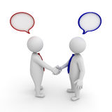 Business handshake with speech bubbles Stock Photography