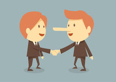 Business handshake. Two business handshake  on bule background Stock Image