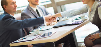 Business handshake. Royalty Free Stock Photos