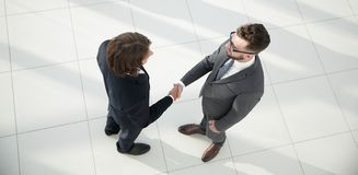 Business handshake and business people concepts. Royalty Free Stock Images