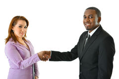 Business Handshake. Two business people shake hands on a deal Royalty Free Stock Image