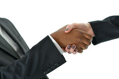 Business Handshake. Two business people shake hands on a deal Stock Images