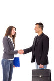 Business handshake between two young people Stock Image