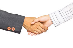 Business handshake on white background Stock Photography