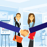 Business handshake with women background Royalty Free Stock Photo