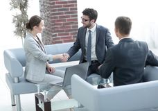 Free Business Handshake Women With The Client Stock Image - 122683621