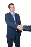 Business handshake. young handsome businessman Royalty Free Stock Photo