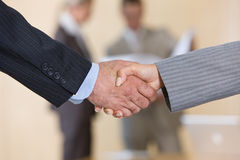 Business handshakes. Business people shaking hands on agreement royalty free stock image