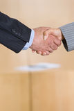 Business handshakes. Business people shaking hands in agreement royalty free stock photo