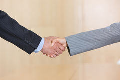 Business handshakes. Businesspeople shaking hands in agreement stock image