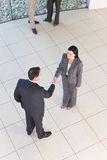 Business handshakes. Business people shaking hands on agreement stock photography