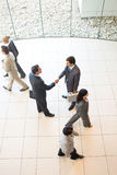 Business handshakes. Business people greeting with a handshake stock image