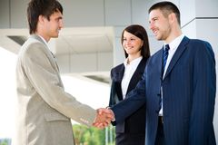 Business handshaking Stock Images