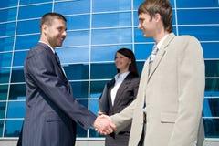 Business handshaking Stock Photo