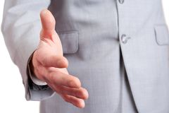 Business handshaking Stock Photo