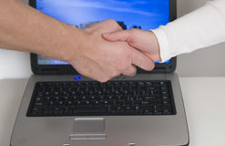 Business handshaking Royalty Free Stock Photography