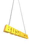 Business hanging by a thread Stock Photo