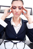Business headache Stock Images