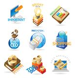 Business headers. Business icons. Heading concepts for document, article or website. Vector illustration