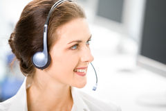Business headset operator Stock Photography