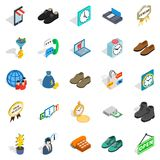 Business help icons set, isometric style. Business help icons set. Isometric set of 25 business help vector icons for web isolated on white background Stock Photos