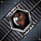 Business Hexagon Grunge background Royalty Free Stock Photo