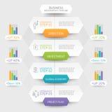 Business hexagon infographics template. Stock Photography