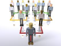Business hierarchy - bottom to top Stock Images