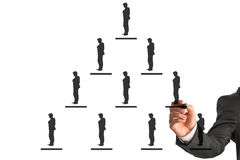 Business hierarchy concept. An illustration of pyramidal business hierarchy concept on a white background Royalty Free Stock Photography