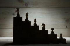 Business Hierarchy. Strategy Concept With Chess Pieces. Royalty Free Stock Images
