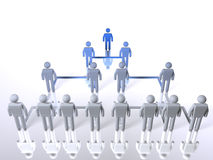 Business hierarchy - top to bottom. A model of a business hierarchy Royalty Free Stock Photography