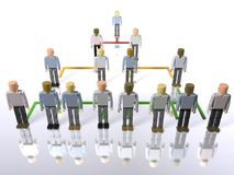 Business hierarchy - top to bottom. A model of a business hierarchy - top to bottom Stock Photo