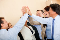 Business high-five Royalty Free Stock Photo