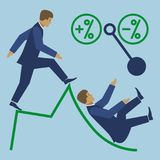 Business high risk vector flat illustration Royalty Free Stock Image