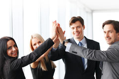 Business highfive Royalty Free Stock Image