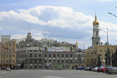 Business and historical center of the town of Kharkiv. On a summer day stock images