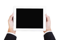 Business holding tablet Royalty Free Stock Photos