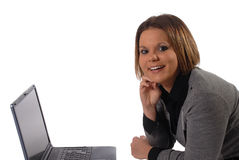 Business at home. Young woman with home based business Stock Photos