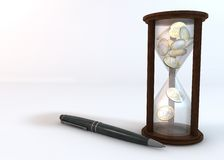 Business Hourglass Royalty Free Stock Photography