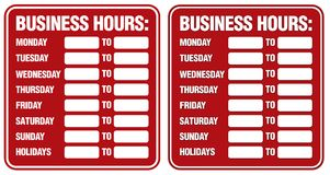 Business Hours Stock Images