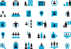 BUSINESS, HR & MANAGEMENT glyph icons Royalty Free Stock Photos
